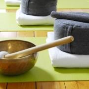 photo d'accessoires pour une séances de méditation