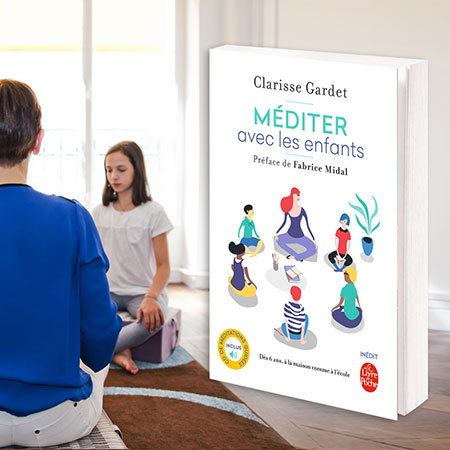 photo enfants entrain de méditer avec le livre Méditer avec les enfants