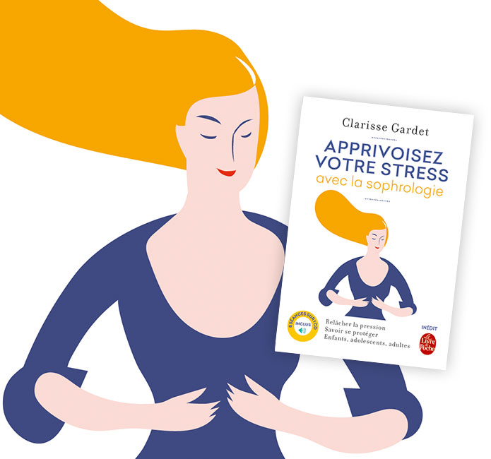 Illustration femme qui médite avec la sophrologie